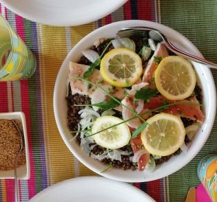 salade de lentilles et truite
