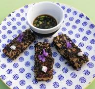 tofu aux graines de sésame